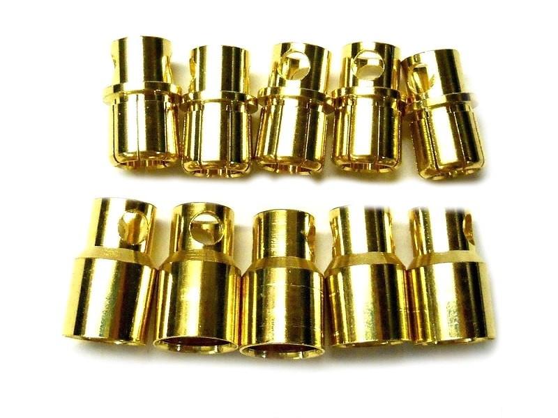 Connettori 8mm Gold-Plug - 5M+5F