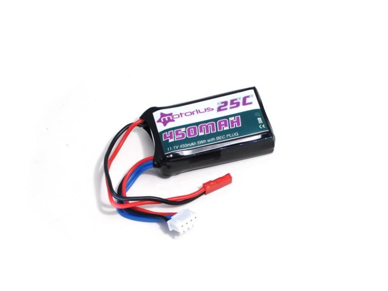 Batteria Li-Po 11.1V - 450mAh 25c