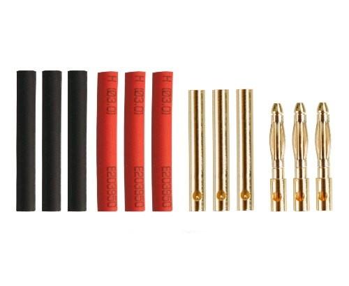 Connettori 3mm Gold-Plug - 3M+3F+Termo