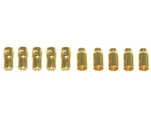 Connettori 6mm Gold-Plug - 5M+5F