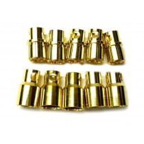 Connettori 8mm Gold-Plug - 5M+5F
