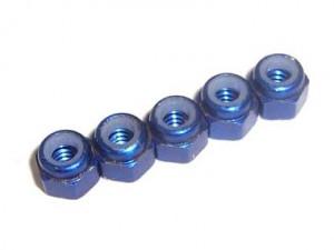 """57135 - Dadi 3/16"""" 4.76mm autobloccanti in alluminio"""
