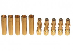 Connettori 4mm Gold-Plug - 5M+5F