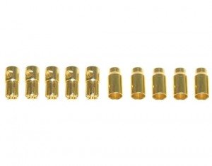 Connettori 6mm Gold-Plug - 5M+5F