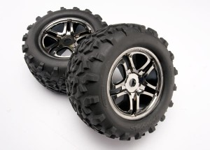 TRX4983A - Gomme e cerchi assemblate Nere Ch